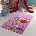 Confetti Butterfly Effect Koyu Pembe Çocuk Odası Halısı