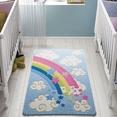 Confetti Rainbow Mavi Çocuk Odası Halısı