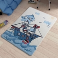 Confetti Smiley Dolphin Mavi Çocuk Odası Halısı