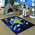 Confetti Space Time Lacivert Çocuk Odası Halısı