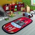 Confetti Speed Racer Kırmızı Çocuk Odası Halısı