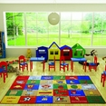 Confetti Study Time Mavi  Çocuk Odası Halısı