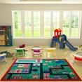 Confetti Town Yeşil Çocuk Odası Halısı