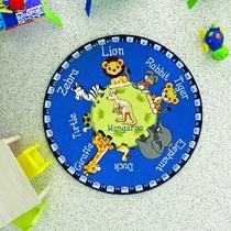 Confetti Animal Planet Mavi Çocuk Odası Halısı