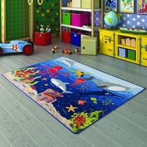 Confetti Deep Water Mavi Çocuk Odası Halısı
