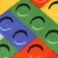Lego Desenli Bukle Çocuk Odası Halısı