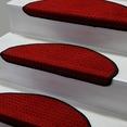 Kırmızı Oval Bukle Halıdan Basamak Paspası