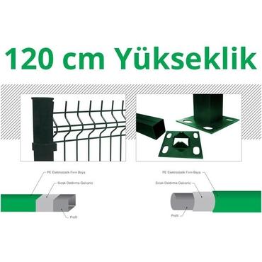 120cm Yeşil 5cm x 5cm x 1cm Çit Profil Demiri