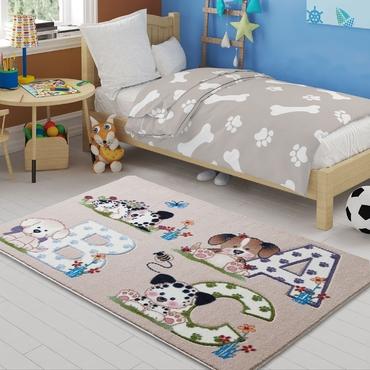 Confetti Abc Bej Çocuk Odası Halısı