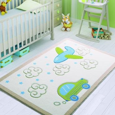 Confetti Baby Road Beyaz Çocuk Odası Halısı