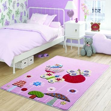 Confetti Butterfly Effect Pembe Çocuk Odası Halısı